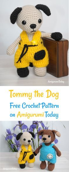 Try this free crochet pattern. Every little child needs a plush friend to talk to, to share secrets and play with. Crochet a sweet amigurumi dog to be a best friend for your babe. Look, how adorable are these puppies, Timmy and Tommy!