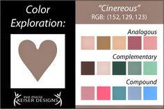 Eva Maria Keiser Designs: Explore Color:  Cinereous