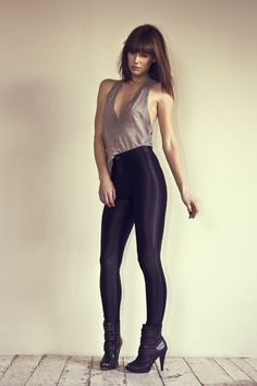 Black disco pants: Can be dressed down for the day or styled up for night with heels. Disco Pants, Casual Outfits, Fashion Outfits, Tight Leggings, Types Of Fashion Styles, Dance Wear, Shorts, American Apparel, Fitness Fashion