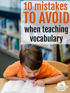 Teaching vocabulary words sometimes get pushed to the bottom of our list. But it's vital that our readers and writers have strong word knowledge. Here are ten mistakes to avoid when teaching vocabulary. Teaching Vocabulary, Vocabulary Activities, Teaching Writing, Teaching Tips, Reading Resources, Reading Strategies, Reading Skills, Reading Comprehension, Word Work Activities