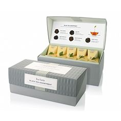 Tea Forte Ribbon Box Sampler with 20 Handcrafted Pyramid Tea Infusers - Black Tea, White Tea, Green Tea, Herbal Tea *** Details can be found by clicking on the image. (This is an affiliate link) #Herbal