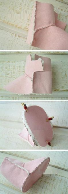 Doll Shoe Patterns, Clothing Patterns, Creation Couture, Baby Boots, Baby Kind, Doll Shoes, Baby Sewing, Doll Accessories, Girl Dolls