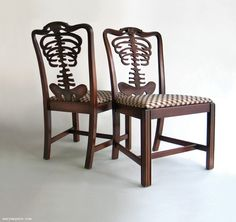 "skeleton chairs from ""Wary Meyers' Tossed and Found"""