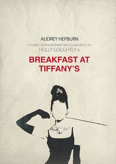 Breakfast at Tiffany's poster minimalist movie by OurBrokenHouse