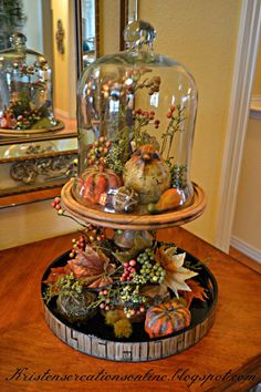 I hope you all are enjoying fall! It will be Thanksgiving before we know it…tw… I hope you all are enjoying fall! It will be Thanksgiving before we know it…two more weeks! I shared my fall mantel several weeks a… Thanksgiving Decorations, Halloween Decorations, Thanksgiving Tree, Vintage Thanksgiving, Cage Deco, Images Noêl Vintages, Cloche Decor, Fall Arrangements, Autumn Decorating