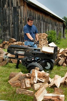 If you're wanting a new log splitter, you may be looking into electric log splitter vs. a gas-powered model. DR Power Equipment has some insight for you. Electric Logs, Electric Power, Wood Fuel, Log Splitter, Mother Earth News, Combustion Engine, Electrical Outlets, Livestock, Homesteading