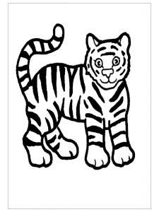 beatiful tiger coloring pages for preschool Tiger Coloring Pages