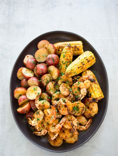 BRUNCH POOLSIDE..this dish is great for a fun Brunch......... Maryland-Style Grilled Shrimp with Old Bay..Bella Donna