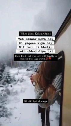 Hindi Love Song Lyrics, Best Lyrics Quotes, Just Lyrics, Best Love Lyrics, Love Song Quotes, Good Thoughts Quotes, Love Songs Lyrics, Cute Love Songs, Beautiful Words Of Love