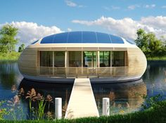 If you prefer views of blue waters over grass lawns, you'll love the WaterNest 100, an adorable ecological floating habitat.