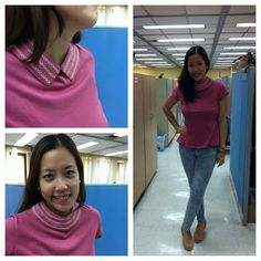 Anna from Southeast Asia Marketing ruled the hallways with her Avon Fashions Peplum  Top with Interchangeable Collar. See how you can wear it in two ways! #fashion #peplum #rose #blouse