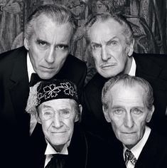 Classic horror legends Christopher Lee, Vincent Price, John Carradine, and Peter Cushing come together for a photo - Imgur