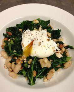 "My Happy Dish: Greens I love dishes tah start with ""use any kind of greens.  Use any kind of beans."