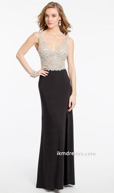 llusion Cluster Bead Bodice Dress http://www.ikmdresses.com/Illusion-Cluster-Bead-Bodice-Dress-p87329