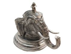 Elephant Head Ink Well AS10921 | Kay's Antiques Elephant Head, Decorative Bells, Past, Archive, Ink, Antiques, Antiquities, Past Tense, Antique