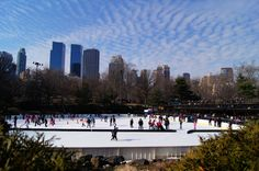 Iceskating in Central Park, Manhattan, New York