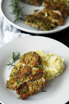 Rosemary Crusted Lamb Steaks from A Duck's Oven. The crust is great on pork and beef, too!