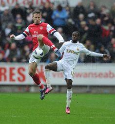 Nacho climbs high. #Swansea v #Arsenal