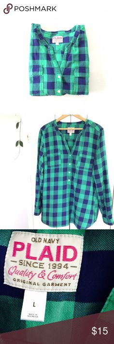 🆕 Listing! Purple and green plaid tunic popover Like new condition. Cotton flannel popover tunic. Vibrant green and purple coloring. From Old Navy's older more quality collection. Fits looser but true to size. Old Navy Tops Tunics