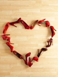 Two of my favorite things. Red shoes and a heart