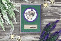 Green And Purple, Emboss, Cardmaking, Friendship, Paper Crafts, Kitty, Cards, Design, Making Cards