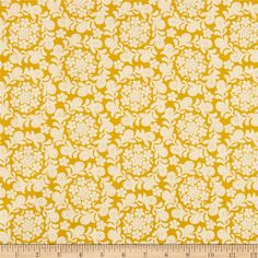 Michael Miller Strawberry Moon Petit Henna Garden Honey from @fabricdotcom  Designed by Sandi Henderson for Michael Miller Fabrics, this cotton print collection features gorgeous saturated prints that are perfect for quilting, apparel, and home decor accents. Colors include mustard yellow and cream.