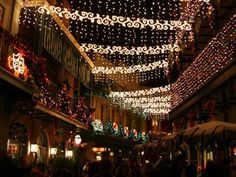New Orleans Square at night