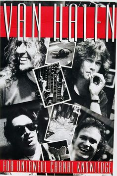 Van Halen ❤️ 1991 Van Halen 2, Van Halen 5150, Eddie Van Halen, Concert Tickets, Concert Posters, Music Posters, Van Hagar, Greatest Album Covers, Greatest Rock Bands