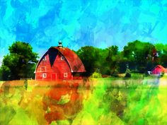 Watercolor Barn, MN