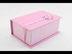 Caixa Livro - Forração em Papel - Cartonagem - YouTube