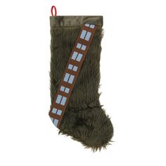 This soft Chewbacca Christmas stocking resembles the Wookie's hide with a thick, furry covering complete with a carefully stitched, movie-accurate bandolier. Star Wars Christmas, Star Wars Merchandise, Chewbacca, Christmas Stockings, Nerd, Comics, Funny, Room, Gifts