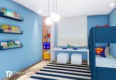 Quarto menino (super heróis) - Thyara Porto - Arquiteta #quarto #quartodemenino #kidsroom #bedroom #kidbedroom #bedroomdecor Kids Bedroom, Kids Rugs, Furniture, Home Decor, Baby Room Boys, Infant Room, Superhero, Log Projects, Toddler Girls