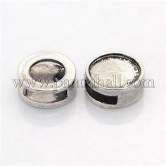 Beads charms metal antique silver slide square diy cabochon set ...