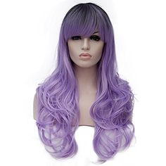 """28"""" Women's Wig Long Wavy Fashionable Costume Cosplay Syn..."""