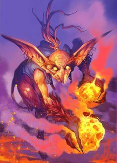 Diablillo de fuego   Algunos de estos posen alas son hábiles con la piromancia son la forma mas básica de un demonio   Peligro 3