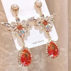 Ear Jewelry, Cute Jewelry, Crystal Jewelry, Jewelry Accessories, Fashion Accessories, Fashion Jewelry, Jewelry Design, Princess Jewelry, Fancy Jewellery
