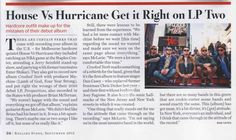 House Vs Hurricane in Rolling Stone Australia- Sept issue