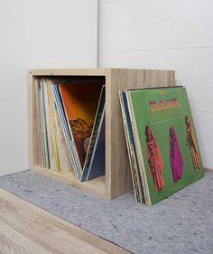 Vinyl records box  vinylplaten houten krat  Vinyl collectie