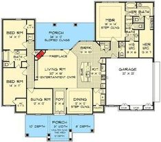 His and Her Bathrooms - 55137BR | European, Tudor, 1st Floor Master Suite, CAD Available, Den-Office-Library-Study, Jack & Jill Bath, PDF, Split Bedrooms, Corner Lot | Architectural Designs