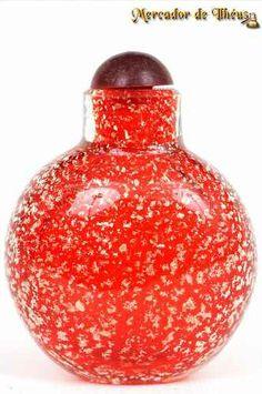 Delicado Frasco Para Perfume Pintura Detalhes Dourada Frete Grátis Para Todo O Brasil