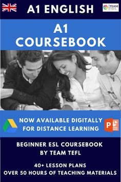 A1 Course book for Beginner ESL learners. This course book is available for distance learning with editable Google Slides and PowerPoint. There are a total of 43 units and a starter pack within this course book, providing over 50 hours of unique, creative and engaging lesson plans. This course includes 9 audio files for listening exercises. Teaching Courses, Teacher Lesson Plans, English Course, Teaching Materials, Teaching English, Book Activities, Esl, Language Arts, Distance