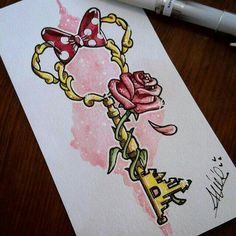 Bildergebnis für Tattoo-Disney-Schlüssel - Tattoo Trends and Lifestyle Manga Disney, Art Disney, Disney Kunst, Disney Style, Disney Magic, Cute Disney Drawings, Cute Drawings, Drawing Disney, Disney Castle Drawing