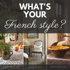 French Chateau Decor, French Style Decor, French Farmhouse Decor, French Home Decor, French Country House, French Country Decorating, Decorating Blogs, Decorating Kitchen, French Countryside