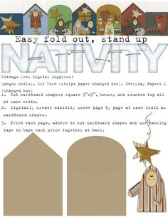 Nativity printable- use the shapes on giveaway ornaments.