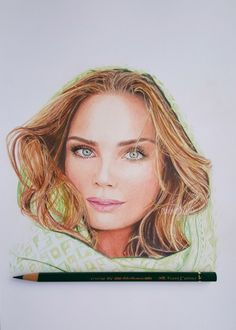 Kim Feenstra colored pencil drawing - Faber Castell polychromos pencils