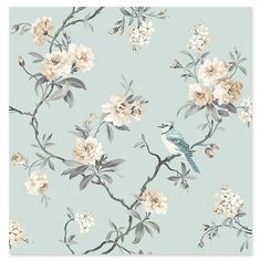 Fine Decor Chinoiserie Floral Wallpaper Duck Egg - Fine Decor from I love wallpaper UK Source by pjmcb I do not take credit for the images in t. Blue Floral Wallpaper, Chinoiserie Wallpaper, Botanical Wallpaper, Embossed Wallpaper, Damask Wallpaper, Paper Wallpaper, Wallpaper Samples, Love Wallpaper, Peel And Stick Wallpaper