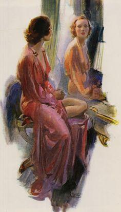 Ladies Home Journal, Fashion illustration by John LaGatta, 1938