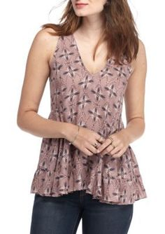 Free People  Smocked Side Tunic Top