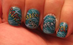 Sonoma Nail Art: Pool Party Nails
