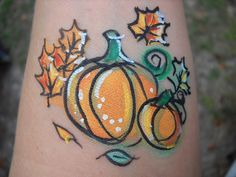 autumn fall harvest cheek art.JPG provided by Fun Faces Jacksonville 32222
